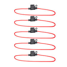 5 x In-Line Car Mini Blade Fuse Holder Waterproof 14AWG US Stock