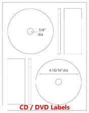 200 Full Face Memorex Compatible CD DVD Laser / Ink Jet Labels 100 sheets Label