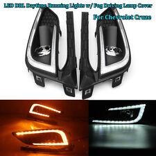 LED DRL Daytime Running Light+Fog Driving Lamp Cover For Chevrolet Cruze 2016-17