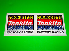 ROCKSTAR ENERGY MAKITA SUZUKI RM RMZ 65 80 85 100 125 250 450 MOTOCROSS STICKERS