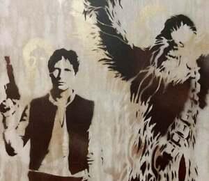 Star Wars art, han solo art, chewbacca painting, Pop Art