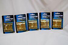 5-Sets of Ultra Hardware #60893 Cupboard Turns Brass Plated (Nib) (#S7014)