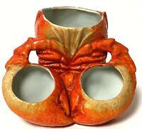 Vintage Hand-Painted Ceramic Lobster Cracker Holder Bud Flower Vase Germany