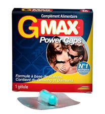 Stimulant Sexuel Libido Puissant pour Hommes - G-Max PowerCaps 1 gélule