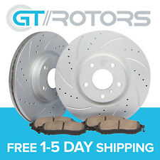 Drilled Slotted Front Brake Disc Rotors & Ceramic Pads BMW E46 325i 325ci Z3 Z4