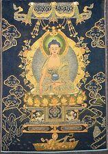 Exquisite Tibet Cloth Silk Sakyamuni  Tangka Thangka Painting  Z17