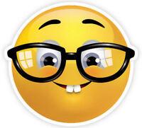 Framed Emoji Print – Glasses & Goofy Teeth (Picture Poster Emoticons Phone Art)