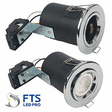 1 Pieces of Chrome Fire Rated Tilt Downlights GU10 240V Fitting