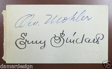 1930 Erny PINCKERT and Orv MOHLER Double Signed Autograph Card USC Trojans RARE!