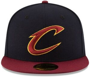 New Era NBA Cleveland Cavaliers (Cavs) 59Fifty Navy Fitted Hat - Size 7 1/8