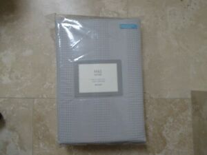 M&S Luxury Bed Set Double Duvet Cover and 2 Pillow Cases 100% Cotton Cost £59