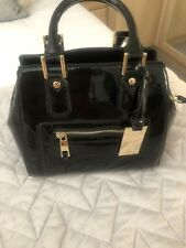 Next Black Patent Small Bag