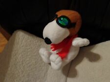 """PEANUTS SNOOPY  FLYING ACE METALLIC GOGGLES  RED SCARF  FLYING ACE 7"""""""