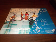 1975 Johnson Outboard Motor Deluxe 24-Page Color Sales Catalog