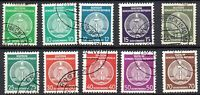 East Germany 1954 Coat of Arms Official 2nd Print (DDR) Full USED Fine Stamp Set