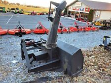 "Used Three Point Snow Blower 72"" Wide Hydraulic Chute Rotator, Runs And Operates"
