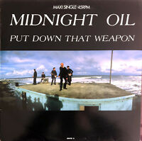 "Midnight Oil 12"" Put Down That Weapon - Europe (VG+/M)"