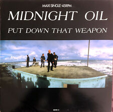 """Midnight Oil 12"""" Put Down That Weapon - Europe (VG+/M)"""