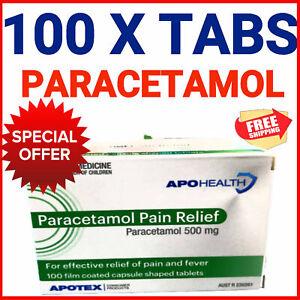 PARACETAMOL 500mg Same Active Ingred As PANAMAX PANADOL APOTEX FREE SHIP