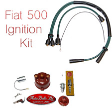 CLASSIC FIAT 500 IGNITION CONDENSER POINTS ROTOR DISTRIBUTOR CAP SPARK HT LEADS