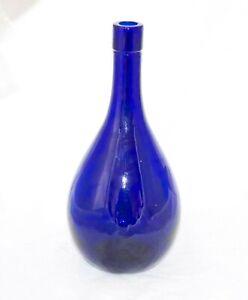 Vintage Cobalt Blue Bottle Chianti Decanter?  Excellent Condition 25.5cm High