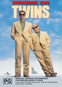 Twins- Arnold Schwarzenegger & Danny DeVito (DVD) Australia Region 4- NEW SEALED