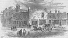 """OXFORD STREET. The """"Adam and Eve"""" Tavern, 1750. London c1880 old antique print"""