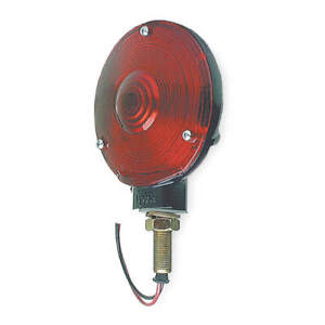 GROTE 53052 Single Face Lamp,Round,Red