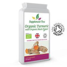 Curcuma Organique Curcumine et Poivre Noir 120 Capsules - Haut Résistance