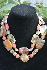 Statement Chunky Fancy Necklace Huge Beads Cherry Quartz JEIQUE house lagenlook
