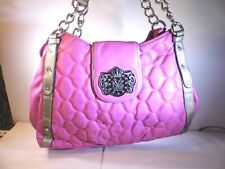 "Kathy Van Zeeland Pink Hand Purse Bag  Pre-owned Con.  #PW383  (14""x9""x4"")"