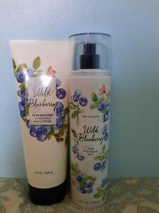 Bath & Body Works 8 fl. oz. Wild Blueberry! Fine Fragrance Mist and Lotion!