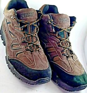 NorthWest Territory Lace up Leather Outdoor Sports Shoes Size 12 Brown/Black