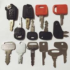 14 Construction Ignition Keys / Heavy Equipment Key Set CAT Komatsu Kubota Case