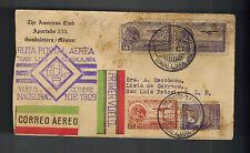 1929 Guadalajara to San Luis Potosi Mexico first flight cover FFC American Club