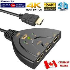 3 Port HDMI Switcher AV Switch Selector Adapter Converter Splitter Hub HDTV PC