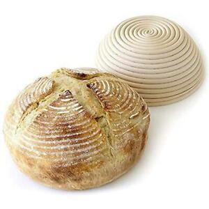 Oval /Round Bread Banneton Brotform Dough Proofing Basket Proving Rattan AU Y5B9