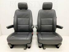 VW T5 GP Caravelle Multivan driver & passenger captain seats Leather Anthracite
