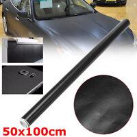 50X100cm Black Leather Grain Car Wrap Car Interior Vinyl PVC Car Sticker Decal