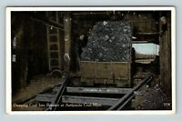 Anthracite Coal Mine, Dumping Coal Into Breaker, Vintage Postcard X52