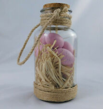 NEW Ashland Glass Jar Pink Eggs Tabletop Table Decoration Easter Spring
