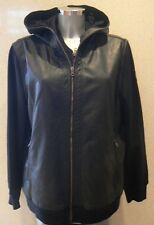 Converse Women Black Jacket Oil Slick Shroud Hooded Jacket Size XL