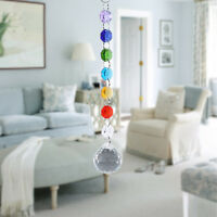 Rainbow Crystal Glass Chandelier Light Ball Prisms Suncatcher Drop Pendant NEW