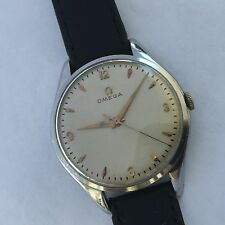OMEGA BIG 38 MM  MENS MNUAL WIND  WATCH VINTAGE CLASSIC NUMBERS