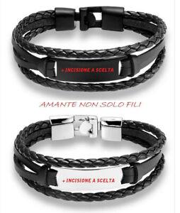 Bracciale Braccialetto Uomo / Donna -personalizzabile con incisione- idea regalo
