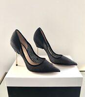 Kurt Geiger London Britton Size 4 EU 37 Bond Shoes Black High Heel Pumps New