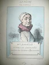 Mme BADINGUE PERLE DE L'ANDALOUSIE CARICATURE HIPPOLYTE MAILLY LE PILORI 1871