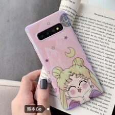 Pink Cute Sailor Moon Glitter soft case Cover for Samsung galaxy S20+ S10+ note9