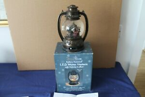 Snowtime LED water Lantern with Nativity Scene 20cms high