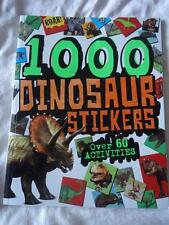 DINOSAURS STICKER ACTIVITY BOOK - WITH OVER 1000 STICKERS & 60 ACTIVITIES - NEW